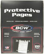 100 BCW 3-Pocket Currency Size Binder Pages