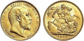 1902 UK - 1931 British Gold Sovereign Brilliant Uncirculated