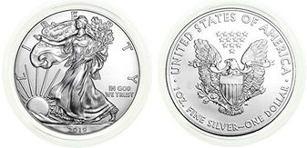 American Silver Eagle 2019 with Certificate of Authenticity